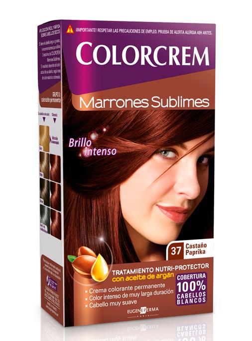 colorcrem tono 37 castaño paprika