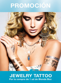 jewelry tattoo promo colorcrem blonde box