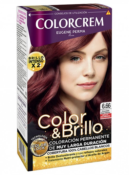 tono rojo intenso colorcrem