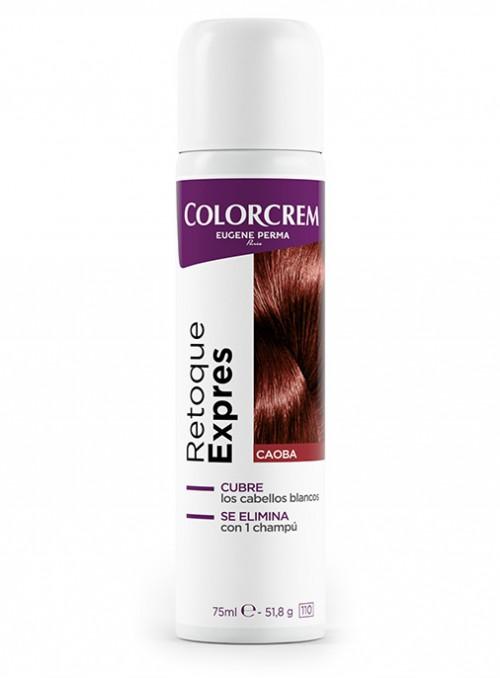 spray retoque para eliminar cabellos blancos en caoba
