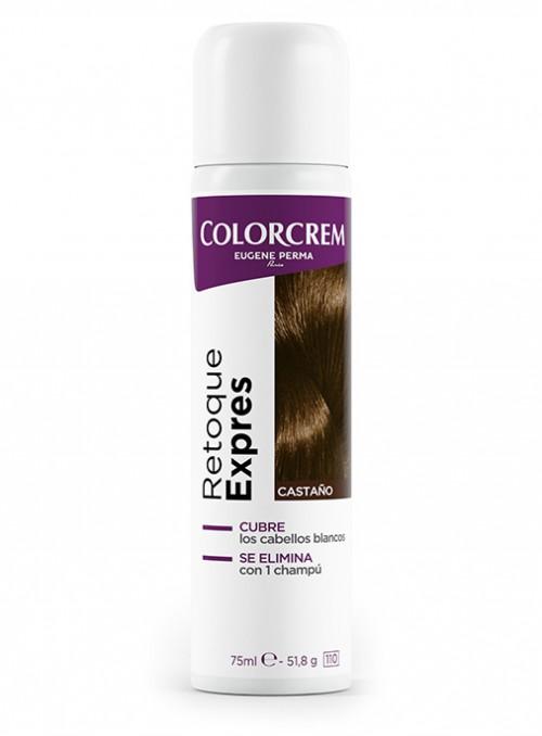 spray para eliminar raíces en cabello castaño
